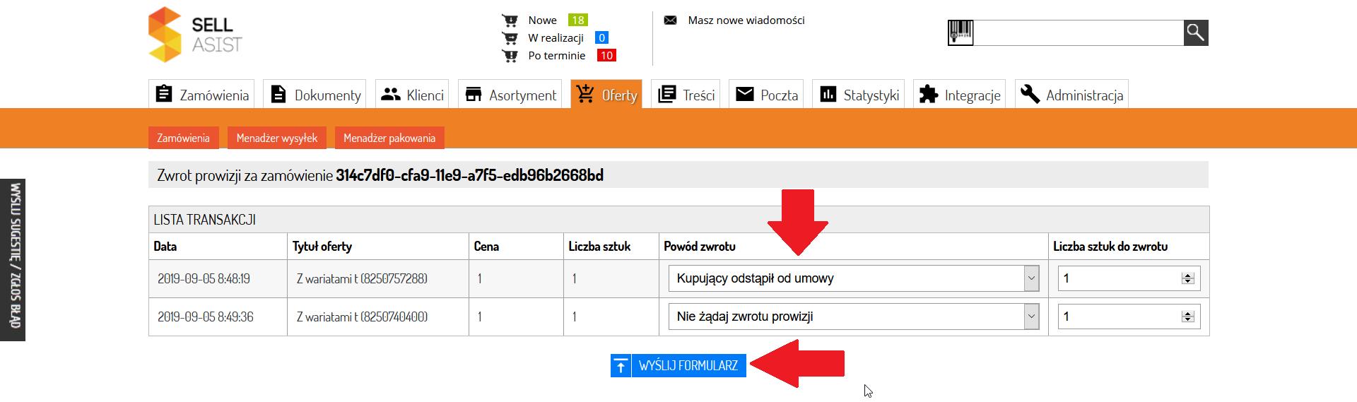 Jak Anulowac Zamowienie Oczekujace I Uzyskac Zwrot Prowizji Z Allegro Zarzadzanie Sprzedaza Internetowa Integracja Sklepu Z Allego Amazon Ebay