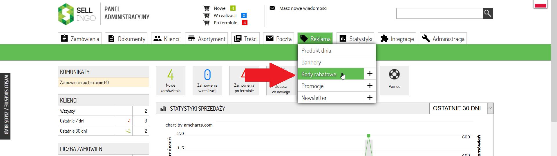 Jak Stworzyc Kod Rabatowy Wysylany Po Zapisaniu Sie Do Newslettera Sklep Internetowy Na Sellingo Darmowe Oprogramowanie