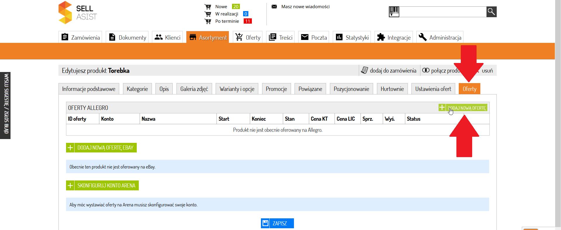 Jak Wystawic Oferte Allegro Sklep Internetowy Na Sellingo Darmowe Oprogramowanie